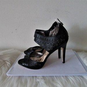 Sam Edelman ALVA black  leather sandals 7.5 M